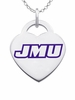 James Madison Dukes Logo Heart Pendant With Color