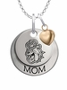 James Madison Dukes MOM Necklace with Heart Charm