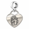 James Madison Engraved Heart Dangle Charm