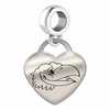 Kansas Engraved Heart Dangle Charm