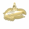 Kansas Jayhawks 14K Yellow Gold Natural Finish Cut Out Logo Charm