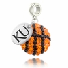 Kansas Jayhawks Crystal Drop Charm
