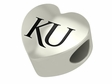Kansas Jayhawks Heart Shape Bead