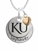 Kansas Jayhawks with Heart Accent