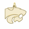 Kansas State Wildcats 14K Yellow Gold Natural Finish Cut Out Logo Charm