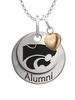 Kansas State Wildcats Alumni Necklace with Heart Accent