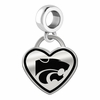 Kansas State Wildcats Border Heart Dangle Charm