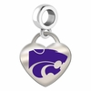 Kansas State Wildcats Color Heart Dangle