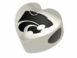 Kansas State Wildcats Heart Shape Bead