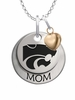 Kansas State Wildcats MOM Necklace with Heart Charm