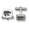Kansas State Wildcats Stainless Steel Cufflinks