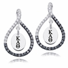 Kappa Alpha Theta Black and White Figure 8 Earrings
