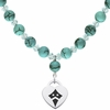 Kappa Alpha Theta Heart and Turquoise Necklace