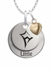 Kappa Alpha Theta LITTLE Necklace with Heart Accent