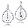 Kappa Alpha Theta White CZ Figure 8 Earrings