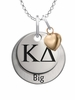 Kappa Delta BIG Necklace with Heart Accent