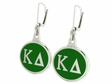 Kappa Delta Silver Sorority Earrings