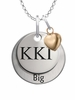 Kappa Kappa Gamma BIG Necklace with Heart Accent