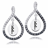 Kappa Kappa Gamma Black and White Figure 8 Earrings