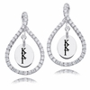 Kappa Kappa Gamma White CZ Figure 8 Earrings