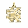 Kennesaw State Owls 14K Yellow Gold Natural Finish Cut Out Logo Charm