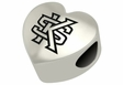 Kennesaw State Owls Heart Shape Bead