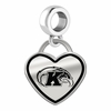Kent State Golden Flashes Border Heart Dangle Charm