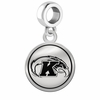 Kent State Golden Flashes Border Round Dangle Charm