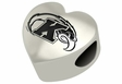 Kent State Golden Flashes Heart Shape Bead