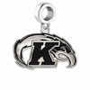 Kent State Golden Flashes Logo Cut Out Dangle