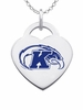Kent State Golden Flashes Logo Heart Pendant With Color