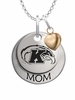 Kent State Golden Flashes MOM Necklace with Heart Charm