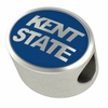 Kent State Golden Flashes Silver Enamel Bead