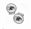 Kent State Golden Flashes Sterling Silver Cufflinks
