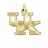 Kentucky Wildcats 14K Yellow Gold Natural Finish Cut Out Logo Charm