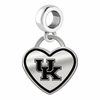Kentucky Wildcats Border Heart Dangle Charm