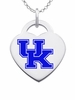 Kentucky Wildcats Logo Heart Pendant With Color