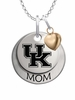 Kentucky Wildcats MOM Necklace with Heart Charm