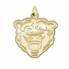 Kutztown Golden Bears 14K Yellow Gold Natural Finish Cut Out Logo Charm