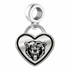 Kutztown Golden Bears Border Heart Dangle Charm