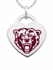 Kutztown Golden Bears Color Logo Heart Charm