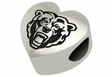 Kutztown Golden Bears Heart Shape Bead