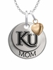 Kutztown Golden Bears MOM Necklace with Heart Charm