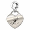 Lake Superior State Engraved Heart Dangle Charm