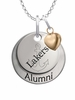 Lake Superior State Lakers Alumni Necklace with Heart Accent