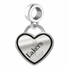 Lake Superior State Lakers Border Heart Dangle Charm