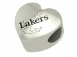 Lake Superior State Lakers Heart Shape Bead