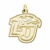 Liberty Flames 14K Yellow Gold Natural Finish Cut Out Logo Charm