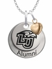 Liberty Flames Alumni Necklace with Heart Accent