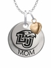 Liberty Flames MOM Necklace with Heart Charm